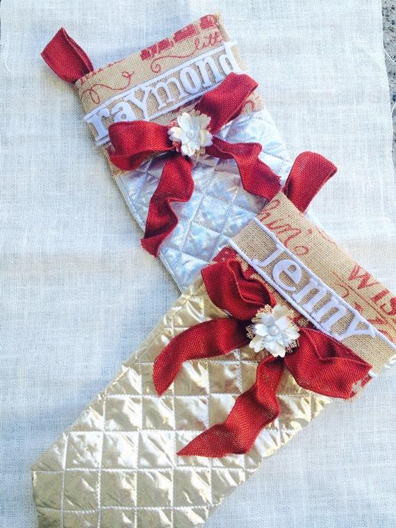 Items similar to handmade christmas stockings for Custom made christmas stockings