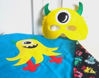 Monster Alien Cape with Monster Mask
