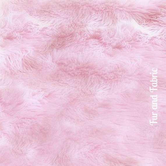 FUR ACCENTS Shaggy Pink Sheepskin Area Rug Premium By