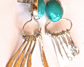 Tyrone Turquoise Dangle Earrings