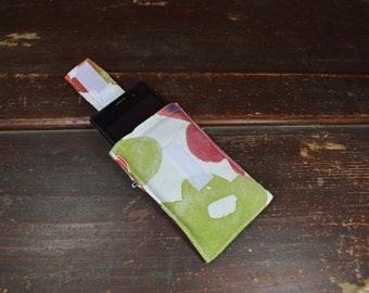 Cotton SMARTPHONE CASE,  keyring, padding,  cover, made in italy,  IKEA fabric