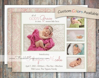 Baby Girl Birth Announcement-Grace