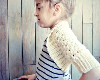 CROCHET PATTERN-Brooklyn Bolero, Childs Shrug Pattern, Girls Crochet Bolero Pattern, Spring Sweater, crochet pattern