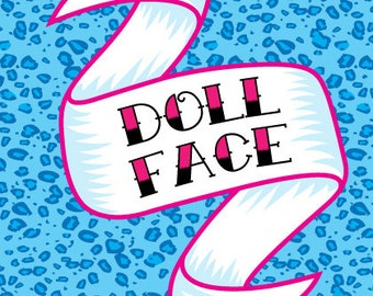 Doll Face Greetings Card