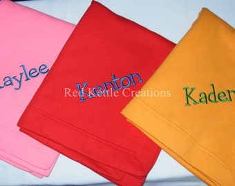 Personalized Children's Stadium Blanket with Embroidered Name, Makes Great Monogrammed Gift!