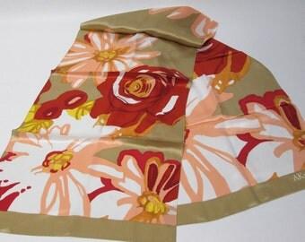 Stunning Anne Klein Long Floral Scarf