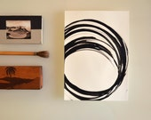 RESERVED Original abstract art drawing - Moving around - modern art, ink art, abstract black and white art by Cristina Ripper