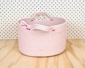 Storage Tub // OVAL Small // Custom Colour // Cotton Rope // Housewarming, Kids Room, Basket, Organiser, Magazine Holder, Lounge Room,