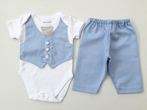 Baby boy outfit baby boy clothing newborn boy baby blue