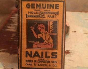 Vintage - Household Nail Box - 1930's