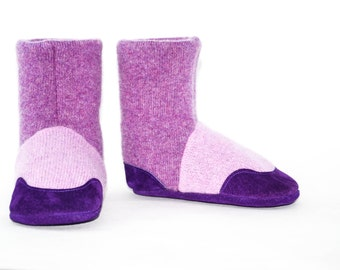 Kids Slipper Socks, Toddler Cashmere Booties, Children Cashmere Shoes, Eco Friendly Boots. Size: USA kids 7.5 to youth 2.5