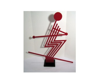 Modern Skier Sculpture