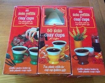 Solo Cozy Cups Refill Box New Old Stock