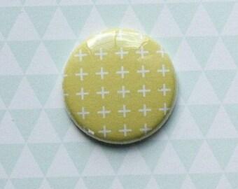 "Badge 1 ""white background yellow"