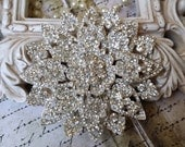 Extra Large Authentic Rhinestone Brooch ~ Rhinestone Crystal Brooch ~ Brooch Bouquet, Bridal Jewelry, Costume Jewelry, Crafting, etc RH-120