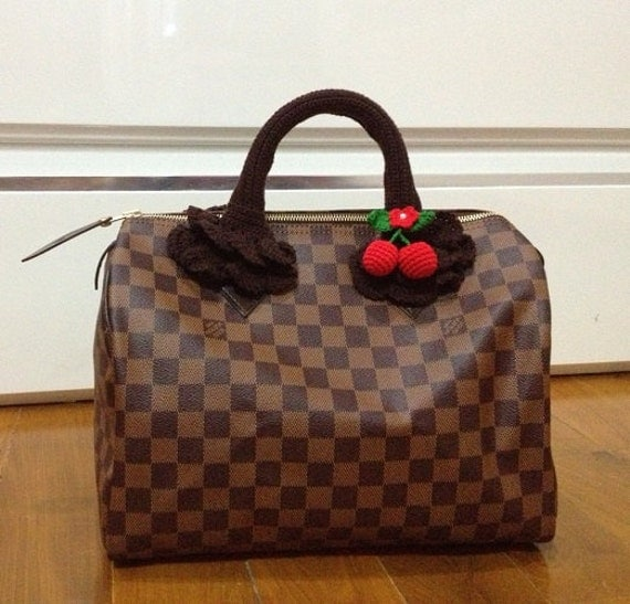Crochet Bag Handle Cover Pattern : Bag Handle.Crochet Handle Cover for louis vuitton Speedy with