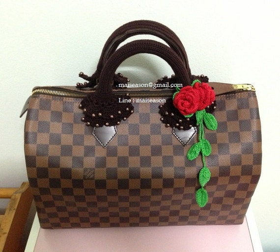 Bag handle. Crochet Handle covers for Louis Vuitton Speedy