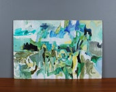 Original Abstract Painting Irwin Caplan Untitled c. 1965