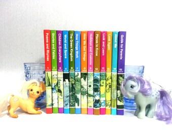 1979 Childcraft Books Vintage, 13 Book Volume Set, Vintage Rainbow Decor, IT982 JRTS