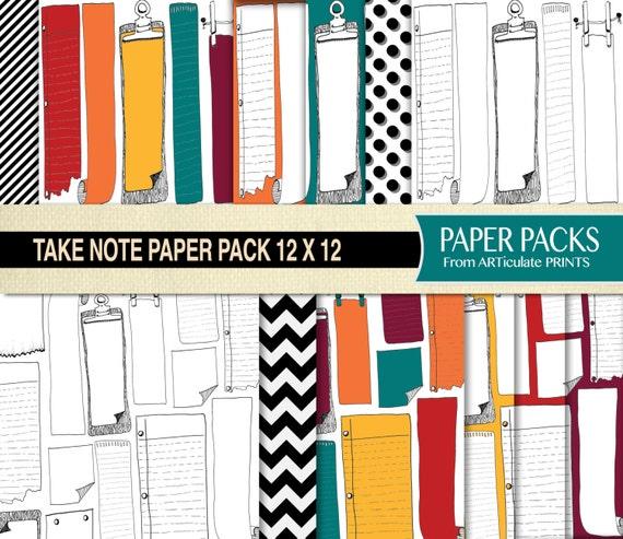 Digital Scrapbook Paper 12x12 Printable Scrapbook Paper