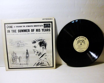 A Tribute Album From Britian to the late John F. Kennedy 1963 Vinyl and Cover Very Good
