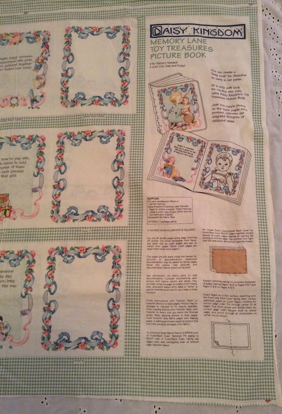 Vintage baby fabric panel book sewing supply craft supply for Retro baby fabric