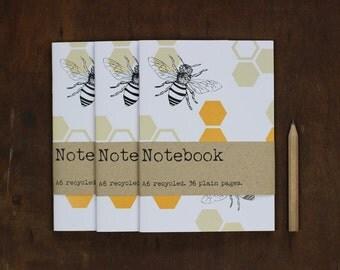 3 Notebook Set - Honey Bee