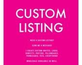 Custom Listing for Annarita Migliaccio