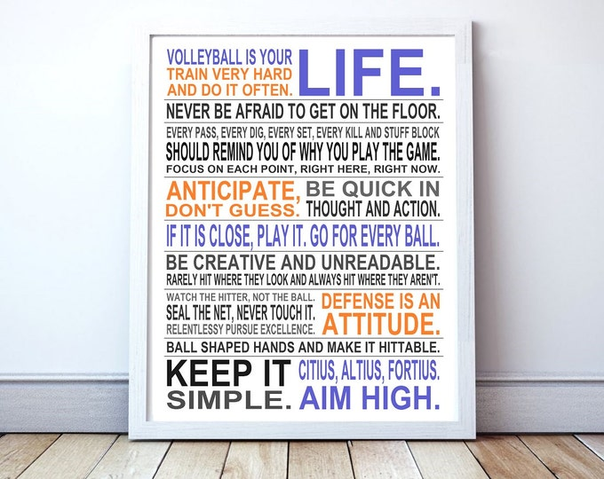 Volleyball Is Your Life - Custom Manifesto Poster Print