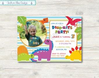 Dinosaur Birthday Invitation - Boy