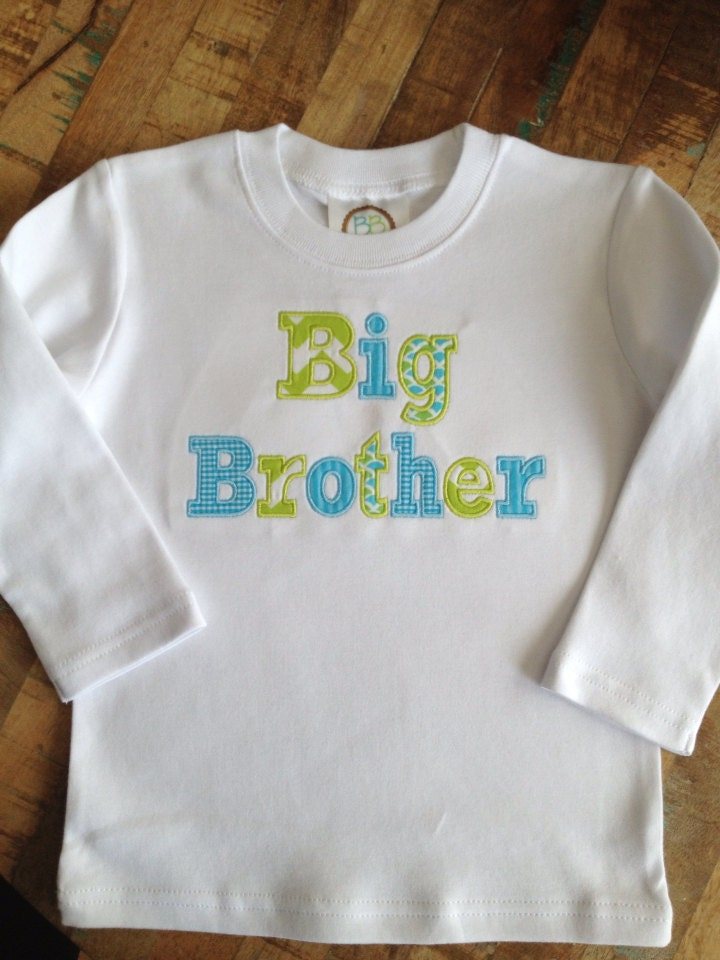 big brother applique shirt by theblueeyedbirdie on etsy