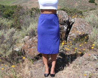 Grape Purple Midi Skirt