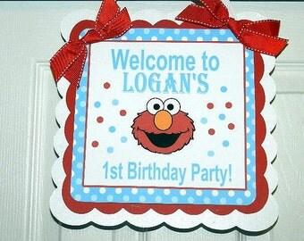 Elmo Birthday Elmo Door Sign