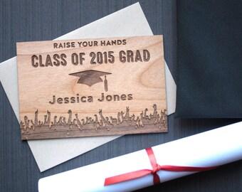 Graduation Card Wood - 2016 Graduation Wood Card - Class of 2016 Congrats Cards