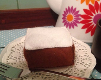 Felt Play Food - Iced Gingerbread Square