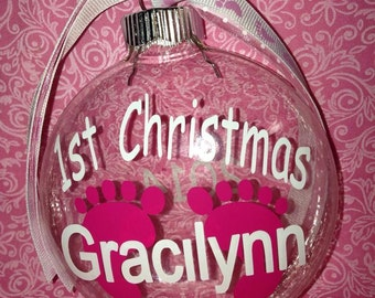 First Christmas Baby Christmas Ornaments Christmas 1st Baby Ornament Christmas First Baby Ornaments