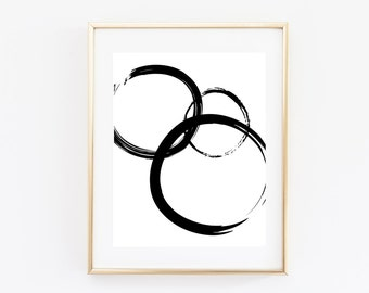 Abstract Circles Print - Abstract Art - Abstract Decor