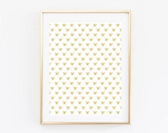 Simple Bow Print - Nursery Decor - Office Decor