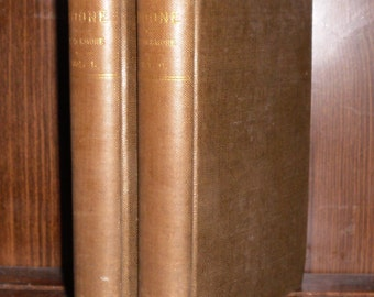 Antique LORNA DOONE by R D Blackmore 2 Vol HC Book Set Printed by Porter & Coates