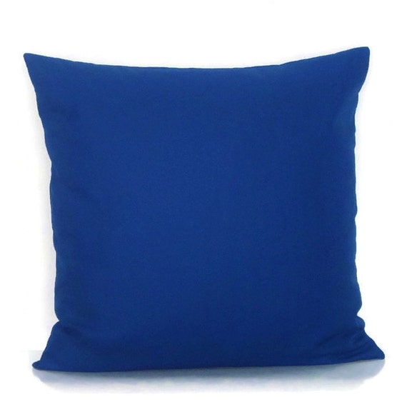 Cobalt Royal Blue Pillow Cover Decorative By Gigglesofdelight