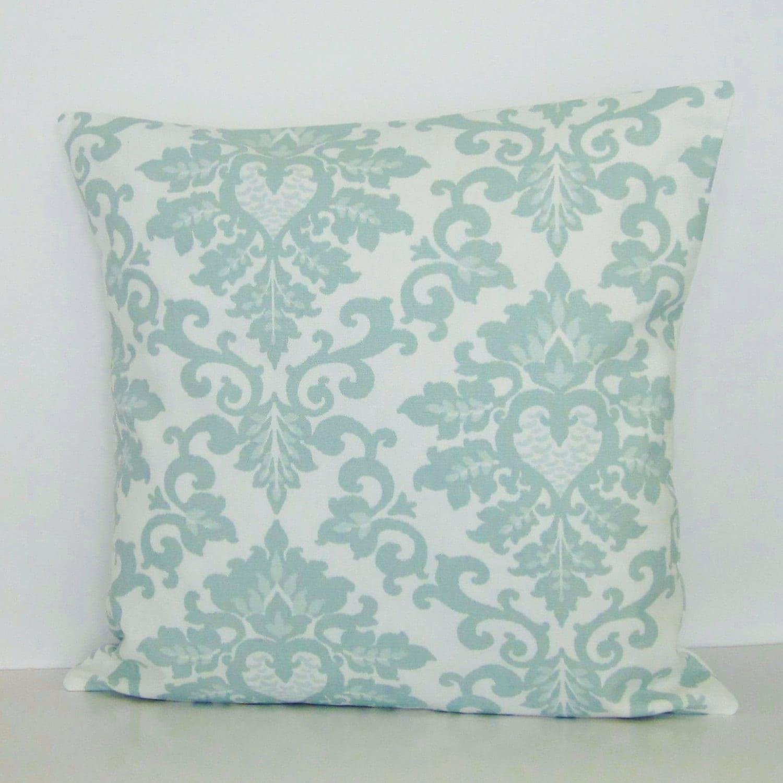 Seafoam Blue Decorative Pillows : Seafoam Green Damask Pillow Cover Decorative Throw Accent Toss