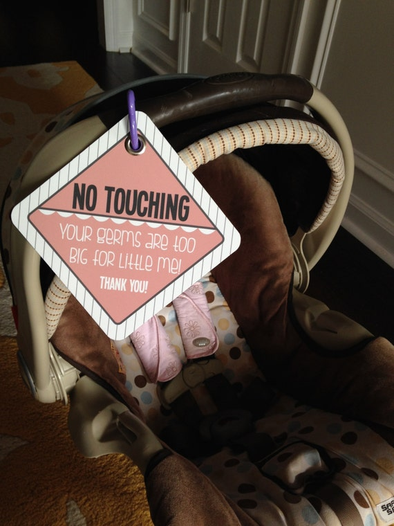 "Carseat ""No Touching"" Sign"
