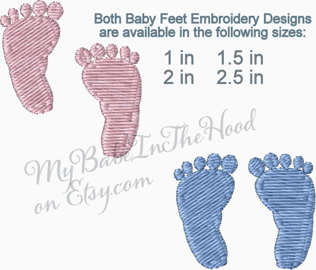 baby feet embroidery design baby footprints embroidery. Black Bedroom Furniture Sets. Home Design Ideas