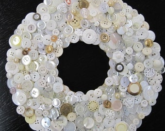 Wreath Made of Buttons