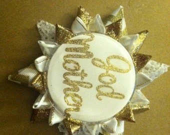 Godmother, baptism button