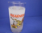 1992 117th Preakness Official Souvenir Glass Pimlico,Baltimore, MD Triple Crown Thoroughbred Horse Racing