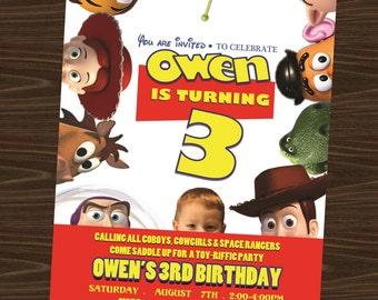 Toy Story Printable Birthday Invitation (with photo)