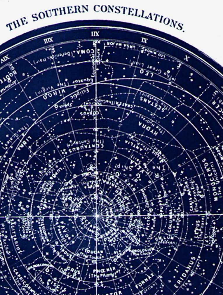 SOUTHERN STAR MAP Instant Digital Download Image To Print Printable - Printable star map