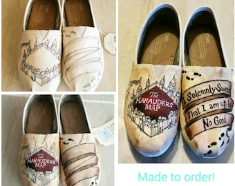 Hand Painted Harry Potter Marauder's Map Toms