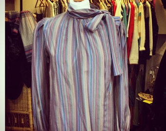 Vintage 1970's stripped blouse top